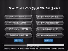 大番茄Ghost Win8.1 x32 多驱动装机版2017V01(免激活)
